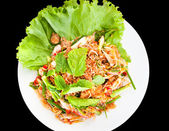 Oyster salad, spicy food, Thailand — Stock Photo