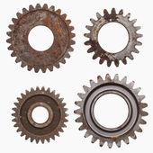 Four Rusty Gears — Stock Photo