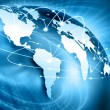 International cooperation Internet map — Stock Photo