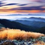 The sunset mountain sunset sky background — Stock Photo #18030911