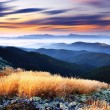 The sunset mountain sunset sky background — Stock Photo