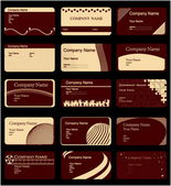 Various business cards — Stock Vector