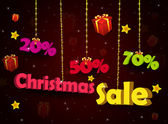 Discount Christmas pendants — Stock Photo