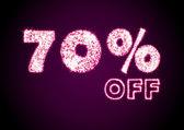 Lesklý sleva 70 % znamení — Stock fotografie