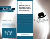Corporate Business Tri-Fold — Stock Photo