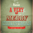 Stock Photo: Vintage vector Christmas card