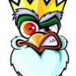 Angry king rooster. - 