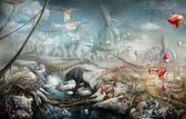 Fantasy panoramic landscape — Stock Photo
