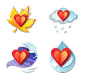 Lovely weather icons — Stock Photo