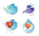 Weather icons. — Stock Photo