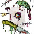 Zombie elements set. - Stock Vector