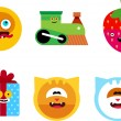 Royalty-Free Stock Vector Image: Characters icon set.