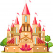 Cartoon fairy tale castle icon — Vector de stock