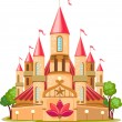 Cartoon fairy tale castle icon — Imagen vectorial