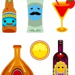 Alcohol icons set. — Stock Vector
