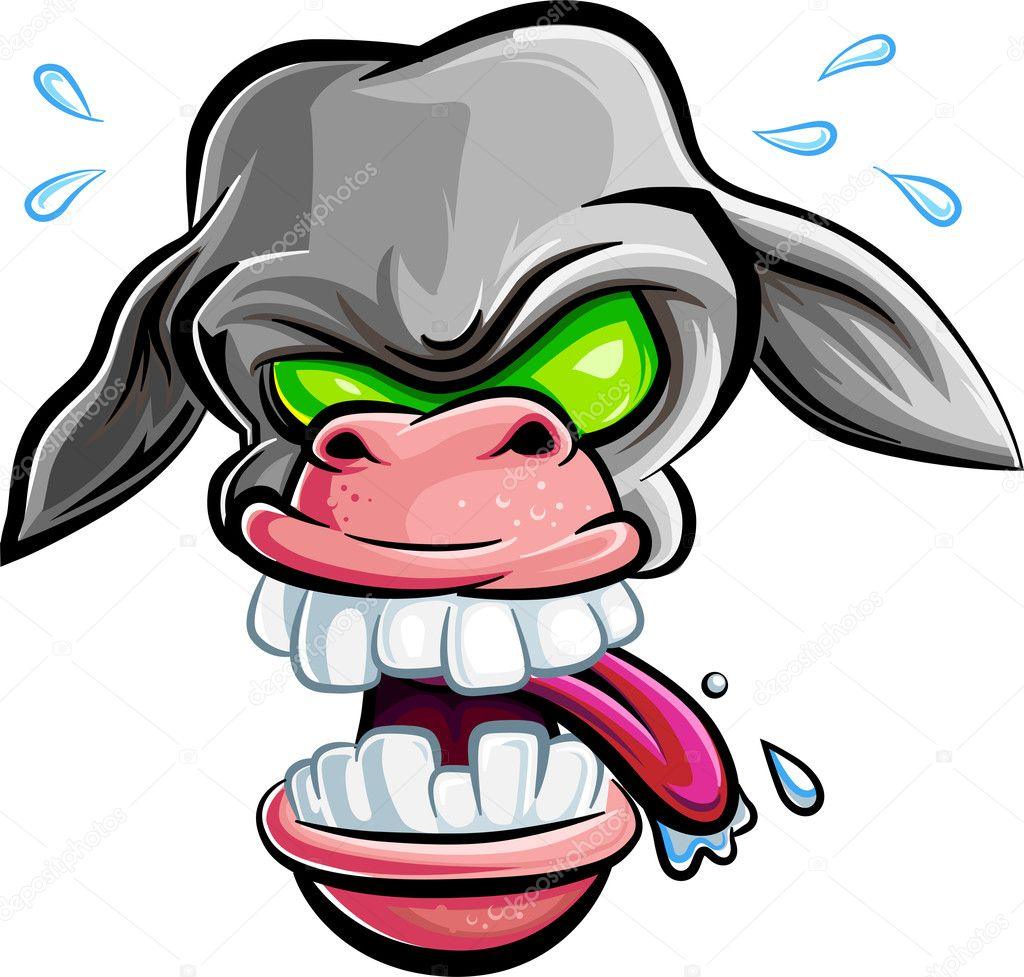 Cartoon Characters Evil : Dangerous evil donkey vector cartoon character isolated