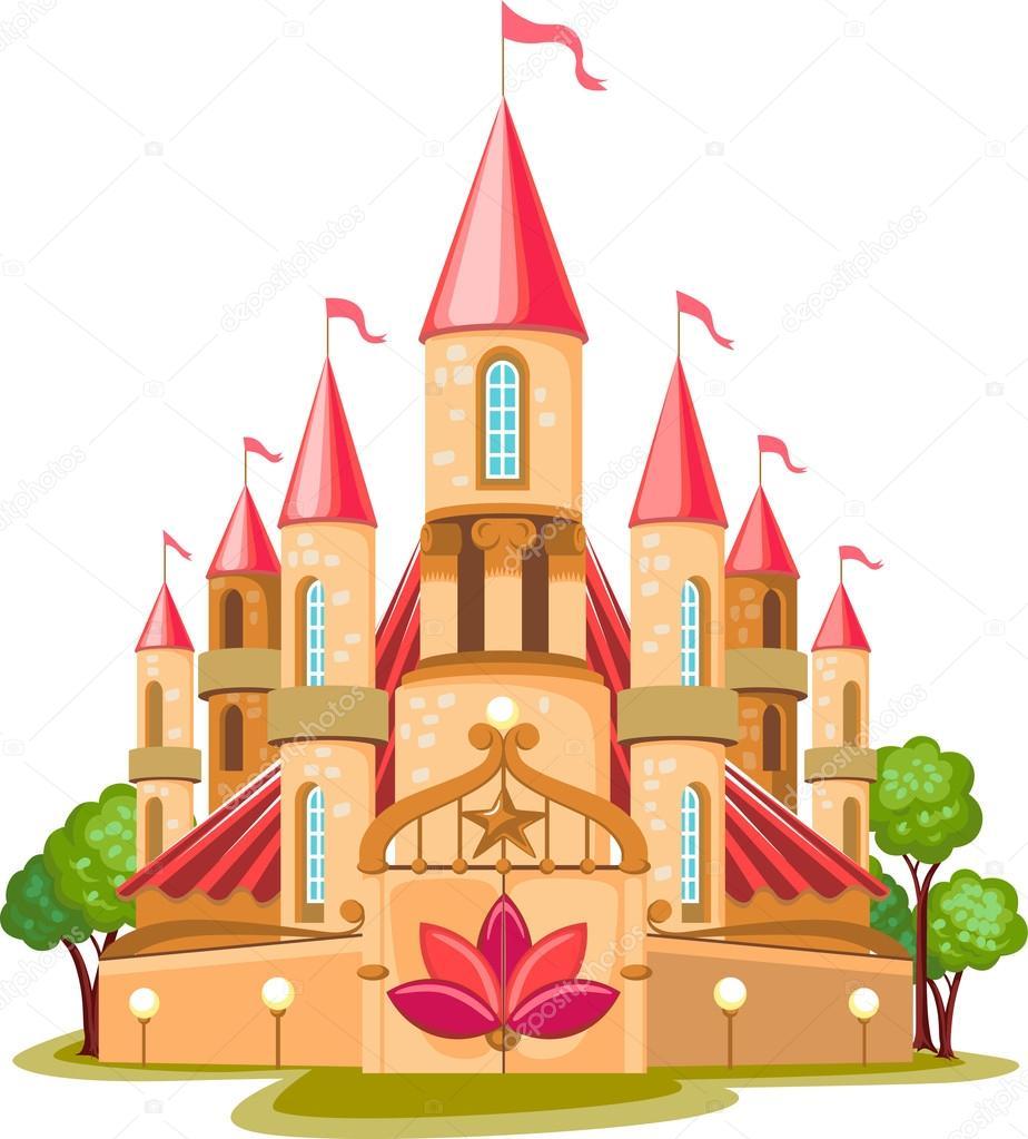 Cartoon Fairy Tale Castle Icon Stock Vector 169 Kotyache 16510917