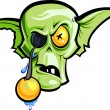 Zombie without eye - Stock Vector
