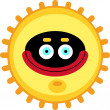 Happy sun character — Stock Vector