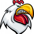 Angry rooster — Stock Vector #34346075