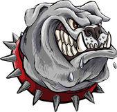 Furious bulldog — Stock Vector