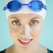 Beautiful Female Swimmer - Stock Photo