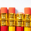 Royalty-Free Stock Photo: Close up of 4 pencil erasers