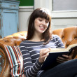Royalty-Free Stock Photo: Lost in a good book