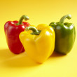 Red, Yellow and Green Peppers - Stock Photo