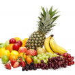 Large selection of fresh healthy fruits - Stock Photo