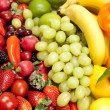 Fresh healthy fruit and vegetables - Stock Photo