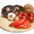 Italian cooking ingrediants - Stock Photo