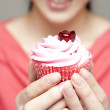 Delicious cup-cake - Stock Photo
