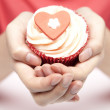Royalty-Free Stock Photo: Romantic cup-cake