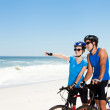 Biking on the beach - Stock Photo