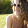 Beautiful summer girl in the grass - Foto de Stock  