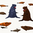 Elephant seals — Stock Photo #35714647