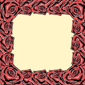 Roze frame. vector. — Stockvector