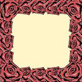 Rose frame. Vector. — Stock Vector
