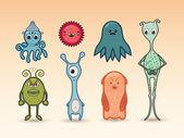 Cartoon monsters set — Stock Vector