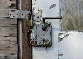 Rusty door lock — Stock Photo
