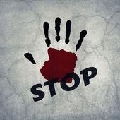 Ręka znak stop — Zdjęcie stockowe