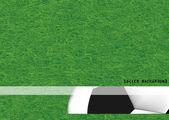 Antecedentes del fútbol bola patrón diseño-vector — Foto de Stock
