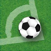 Futebol futebol campo estádio grama linha bola textura de fundo — Foto Stock