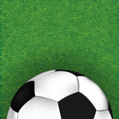 Soccer ball on grass background, illustration  — Stock Photo