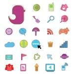 Social color Media color Icon, Network Vector — Stock Vector