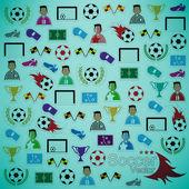 Soccer background Icons set. Illustration eps10 — Stock Vector