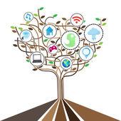 Social network icons set.Illustration EPS10  — Vector de stock