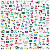 Set di icone sfondo calcio. illustrazione eps10 — Vettoriale Stock
