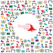 Soccer circle Icons set. Illustration eps10  — Stock Vector